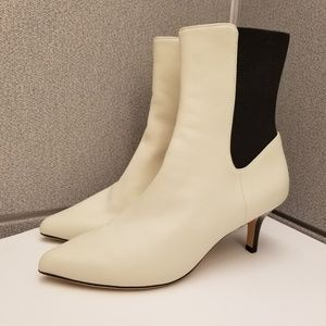 New Joie Rali Kitten Heel minimalist ivory Boots